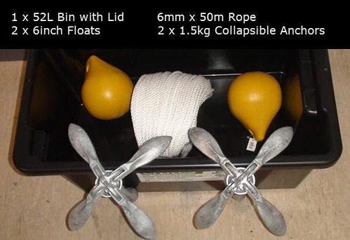 40m Flounder Nets Buoy Anchor Combo