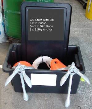 Buoy Anchor Combo for 60m Flounder Net