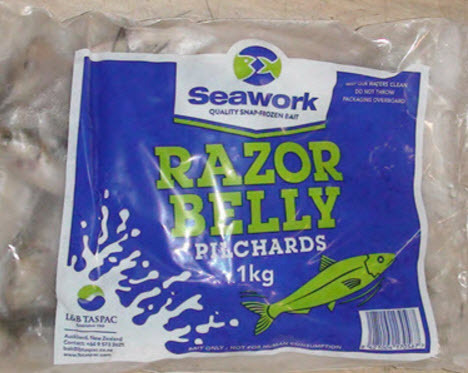 Razor Belly Pilchard - 1kg Bag
