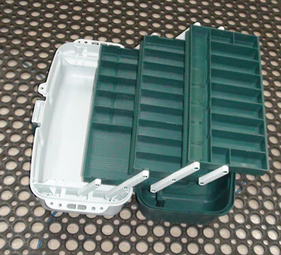 Tackle Box Three Tray - Delux 6 Green