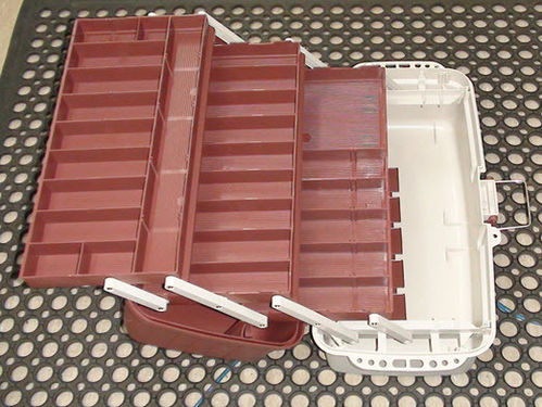 Tackle Box Three Tray - XL-Delux 4 Brown