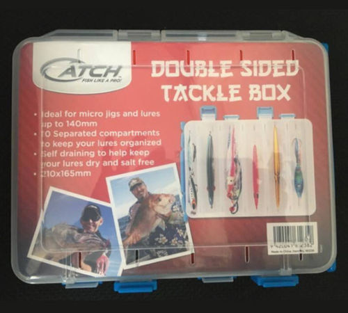 210mmx165mm Double Sided Tackle Box - Catch