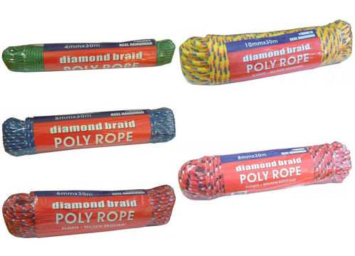 Diamond Braid Rope 4mm 5mm 6mm 8mm 10mm x 30 M