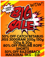 Read entire post: 50% Off Catch Kabura - 80% Off Fineline Rope Shorts - INSTORE ONLY