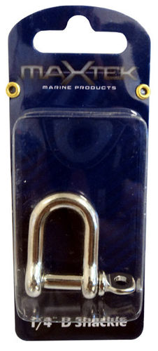 D Shackle Stainless Steel D - 1/4""