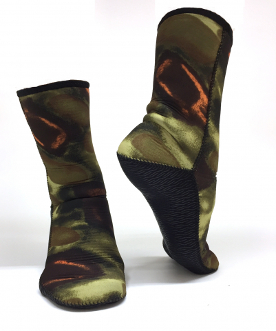 Free Diving Sock Large 3mm Camo