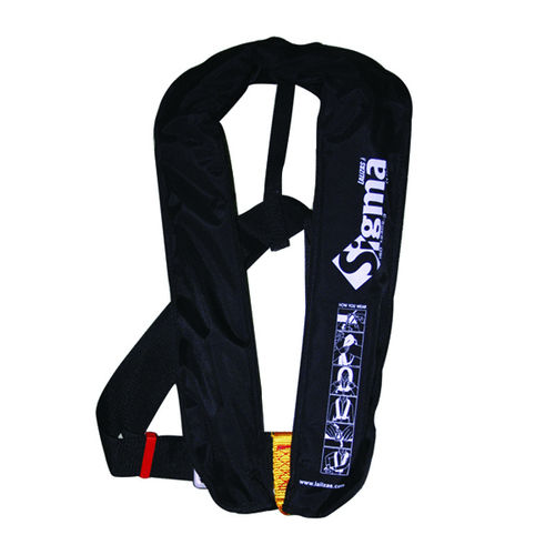 Over 50kg Sigma Manual Lifejacket - Black