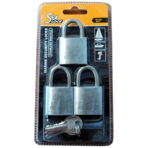 Marine Padlock - Set of 3 Stainless