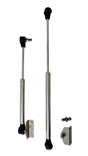 Gas Strut - SS with Bracket & Stud 385mm - BP
