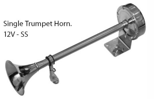 Horn Stainless Steel - Single Trumpet 24V