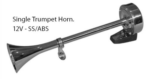 Horn 12V - Single Trumpet - Blister Pack