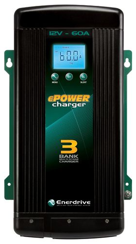 ePower 12V 60A Battery Charger- Three Output