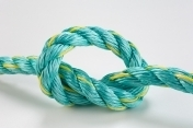 8mm x 250metre Aquatec Mono Rope  coil Green W/ Gold