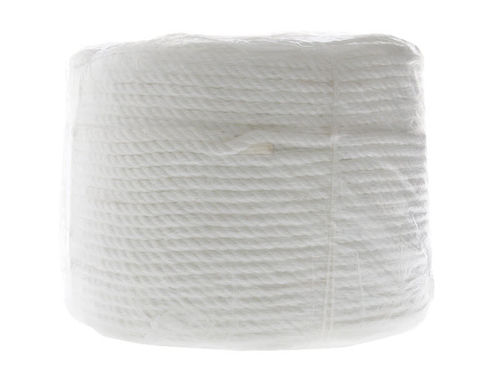 8mm x 125metre Polyester Rope White