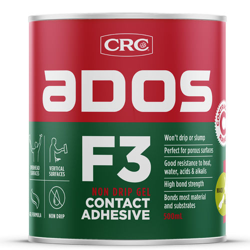 CRC F3 Non Drip Contact Adhesive Can 1L