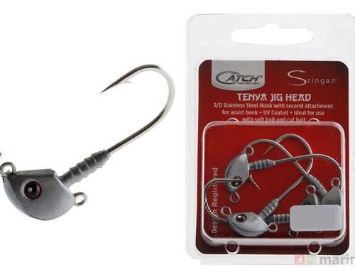 Catch Stingaz Tenya Jig Heads 3/0 4 Pack 1/2oz