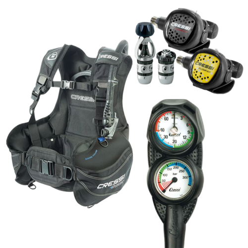 Cressi Start Scuba Combo Package Extra Large