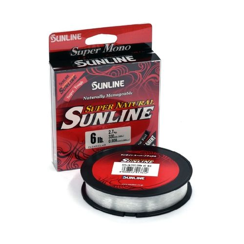 Sunline Super Natural Nylon Line Clear 6lb