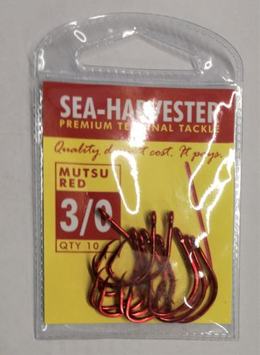 Sea Harvester Mutsu red hook 3/0 pkt 10